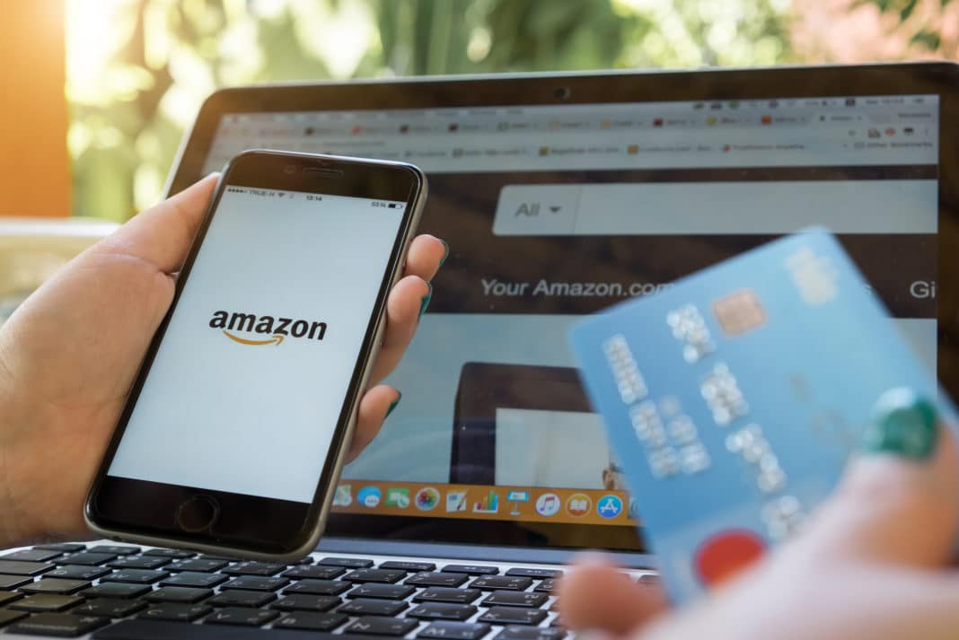 Shopping Amazon Computer Phone Credit Card