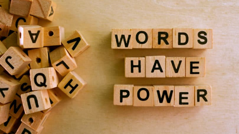 Words Have Power Block Letters