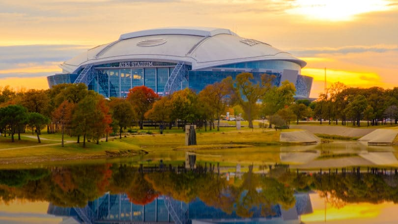 Arlington Texas Football Stadium Dallas Cowboys Sunset