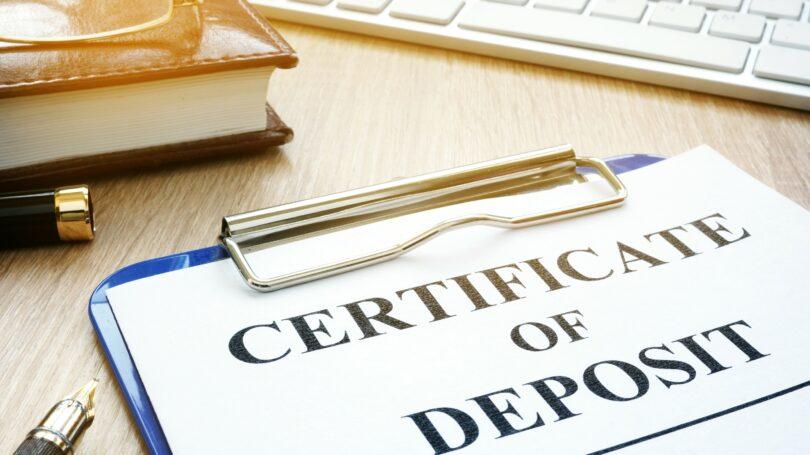 Certificate Of Deposit Pen Desk