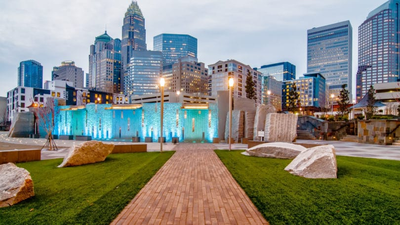Charlotte North Carolina Skyline Cityscape