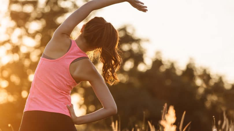 Exercise Woman Stretching Outdoors