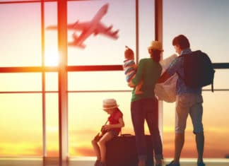 Family Vacation Airport Airplane Suitcase Luggage