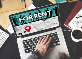 For Rent Research Searching Property Laptop Desk