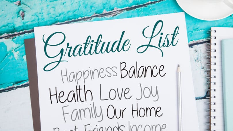 Gratitude List Notebook Words Letters