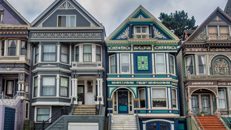 Historic Victorian Houses San Fransisco Painted Ladies