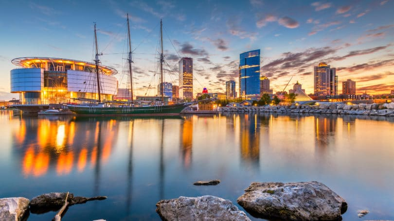 Milwaukee Skyline Cityscape Water View