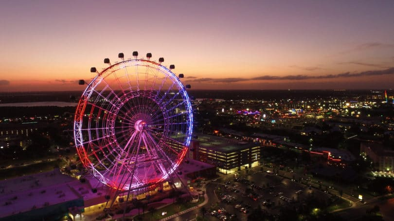 Orlando Eye Florida Ferris Wheel City Sunset Cityscape