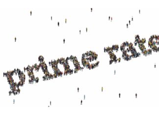Prime Interest Rate People Crowd Forming Letters