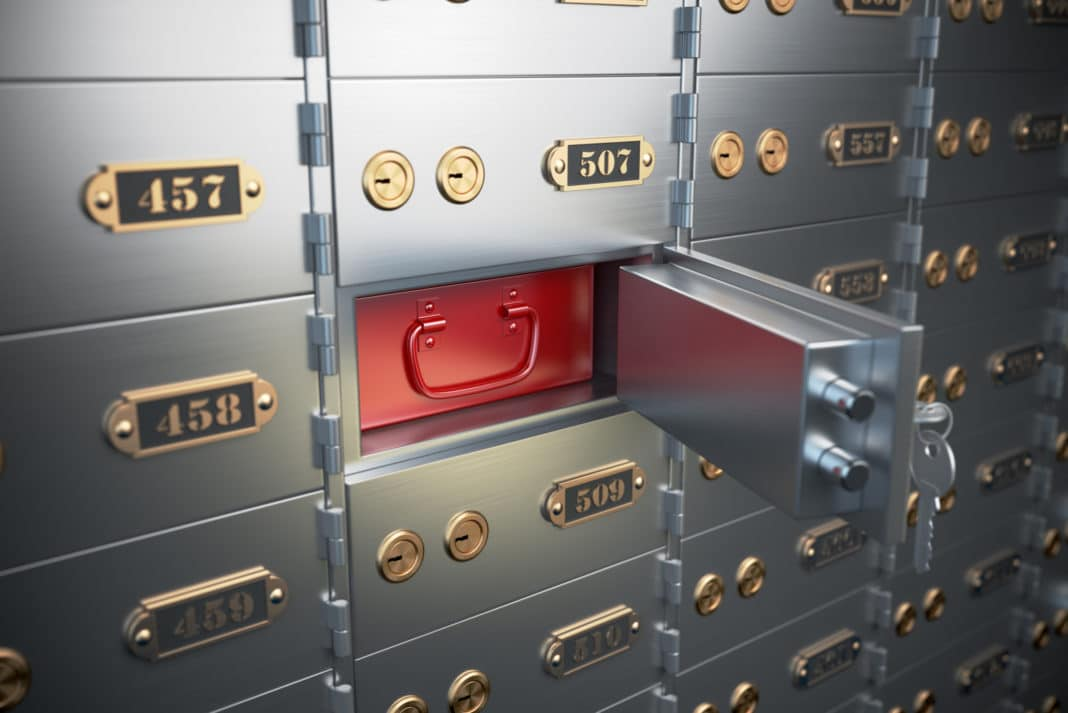 Safe Deposit Box Open