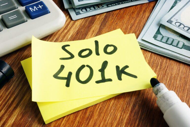 Solo 401k Post It Marker Cash