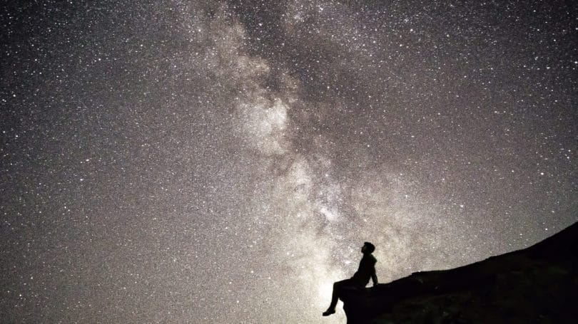 Star Gaze Outdoors In Awe Silhouette