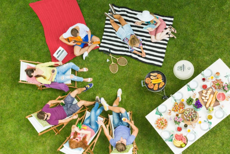 Summer Bbq Barbecue Chairs Picnic Table