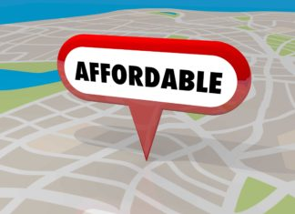 Affordable Housing Real Estate Property Map Sign Arrow