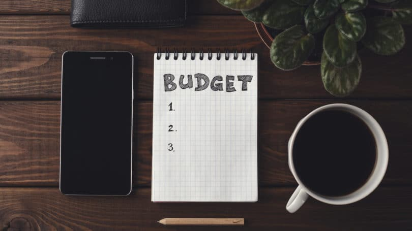 Budget Notepad Coffee Phone Pencil Desk Office Planning