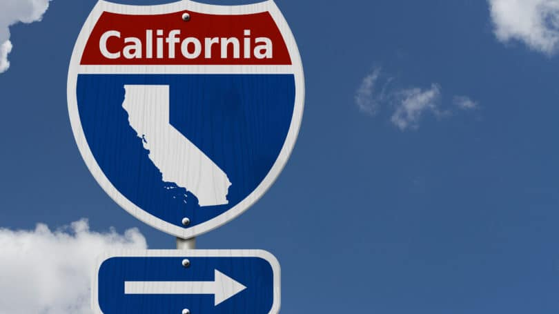 California State Sign Interstate Arrow