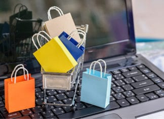 Computer Online Shopping Bags