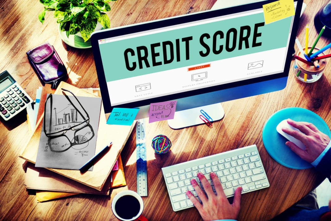 Credit Score Computer Budget Money