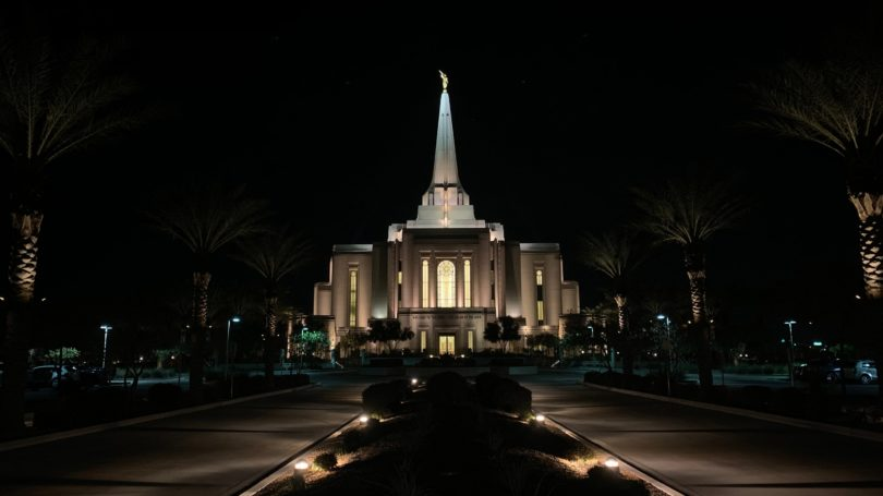 Gilbert Arizona Church Night Time Latter Day Saints