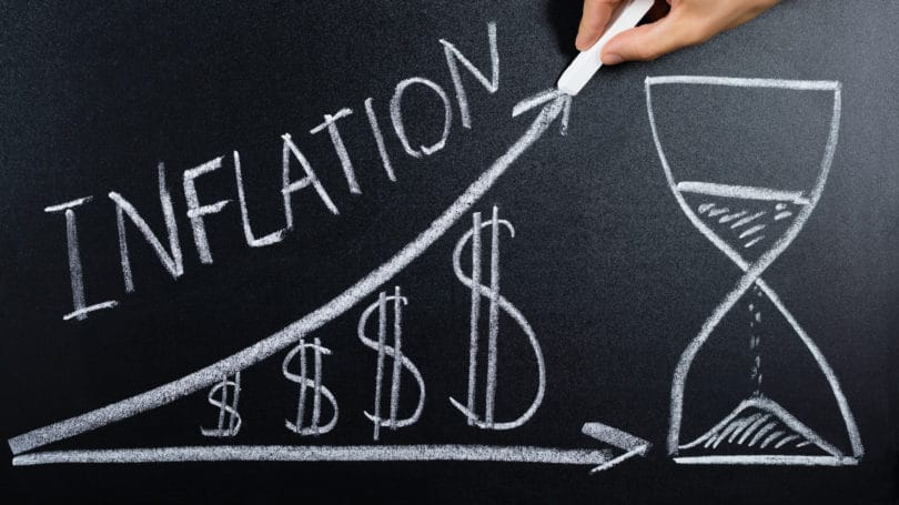 Inflation Money Graph Chalkboard