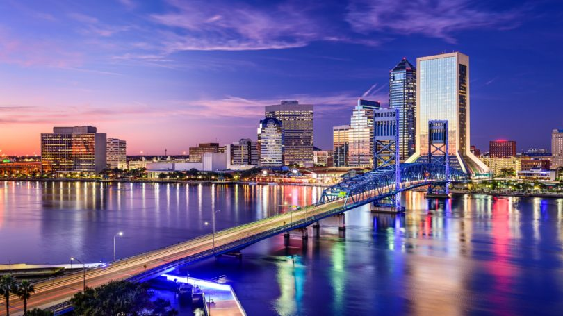 Jacksonville Florida Usa Downtown City Skyline