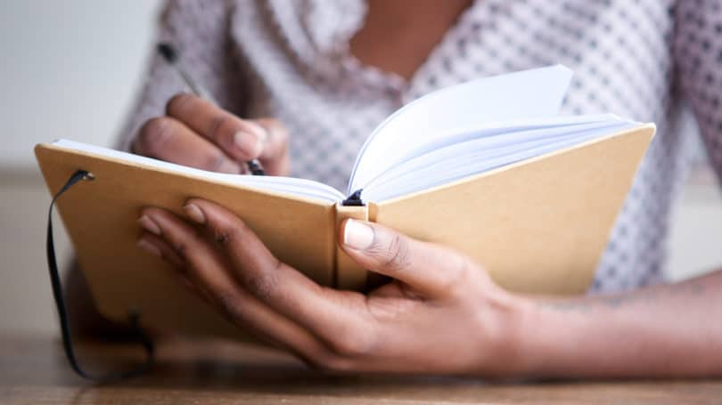 Journal Woman Writing Notes Diary