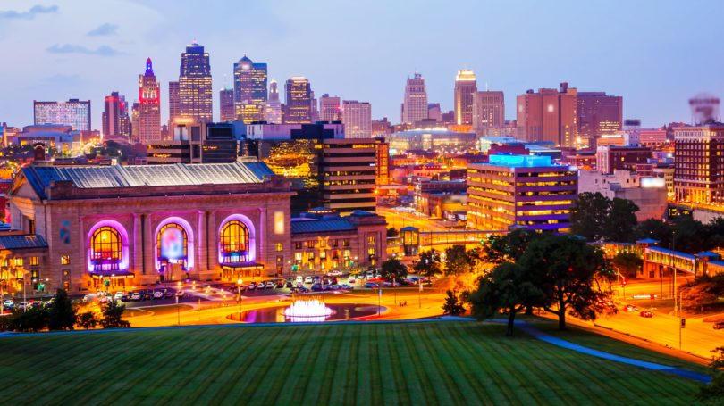 Kansas City Missouri Cityscape Skyline