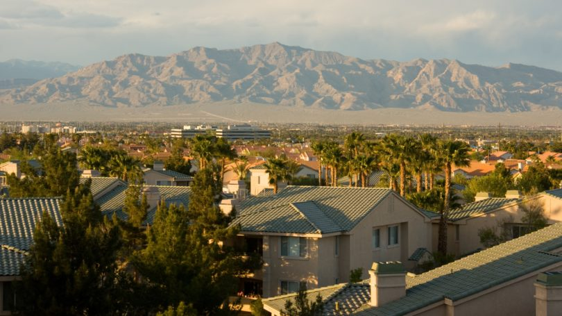 Las Vegas North View Mountain Range Suburbs
