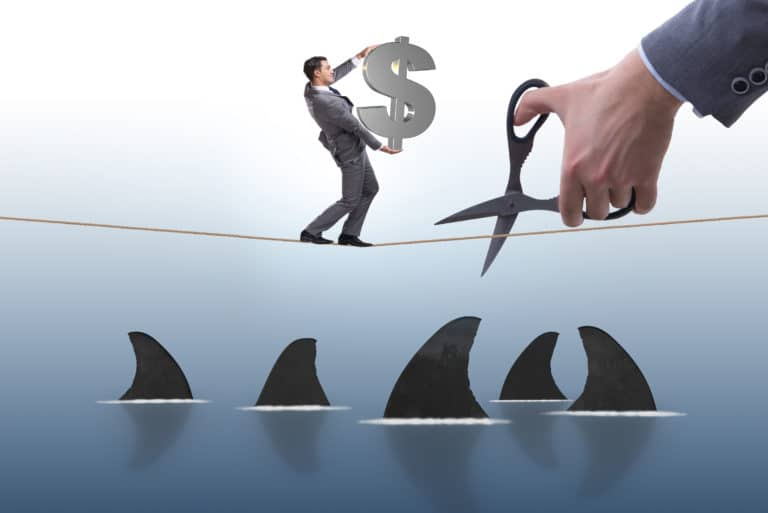 Loan Shark Tight Rope Business Risk