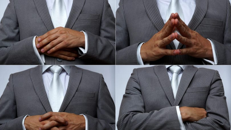 Man Posture Hands Suit Body Language