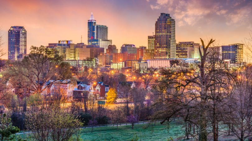 Raleigh North Carolina Usa Skyline