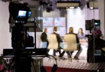Recording Taping Live Talk Show Television Studio