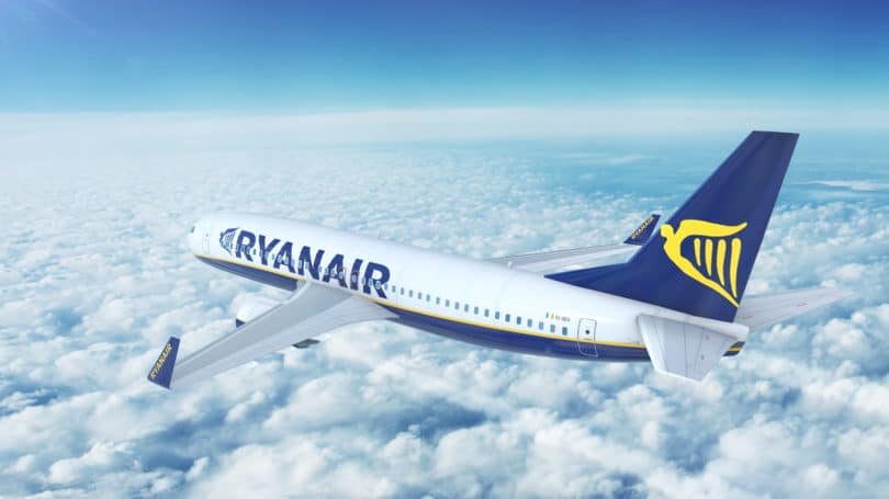 Ryanair Ireland Budget Airline Plane Sky Clouds Flying