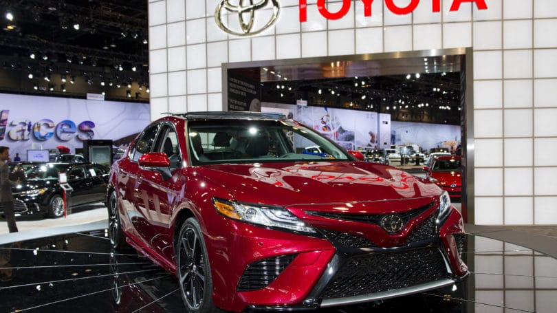 Toyota Camry Red Auto Show