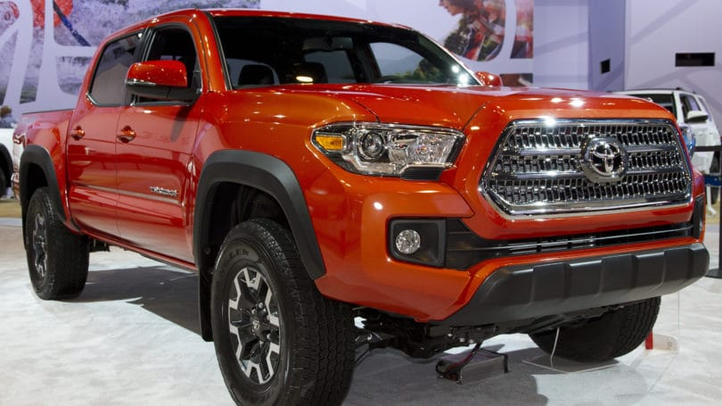 Toyota Tacoma Pick Up Truck Orange Red