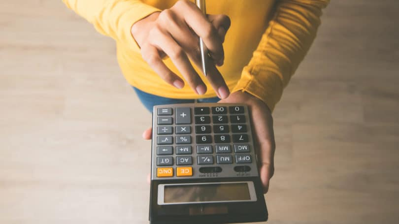 Woman Calculating Cost Math Finance Planning