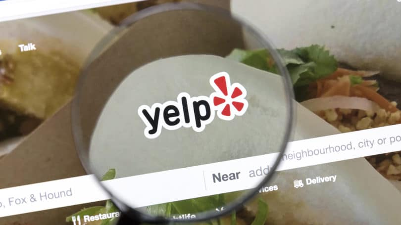Yelp Search Magnifying Glass Website