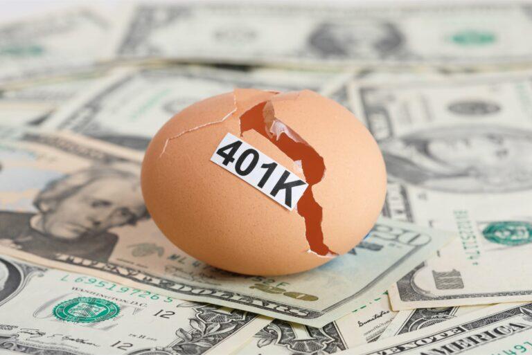 Broken Egg 401k Sitting On Cash