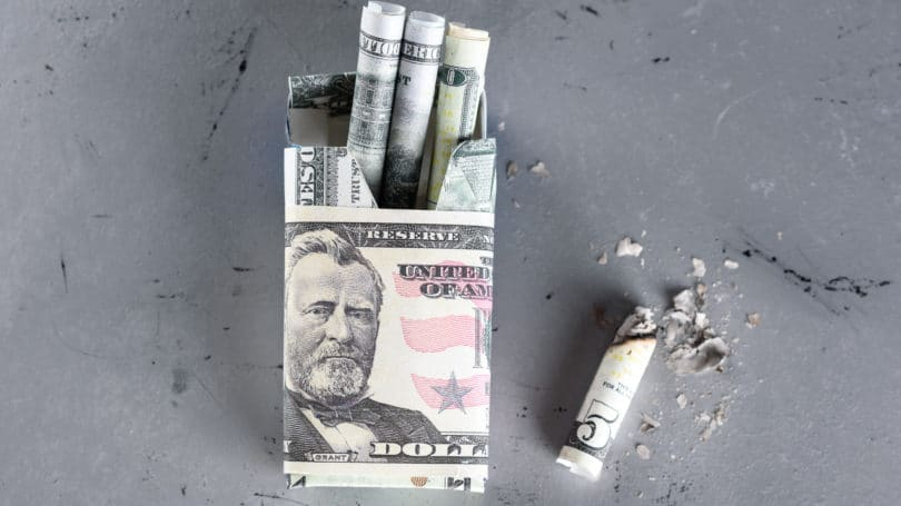 Cigarettes Are Expensive Lighting Up Cash
