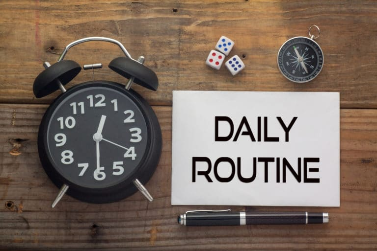 Daily Routine Clock Dice Compass
