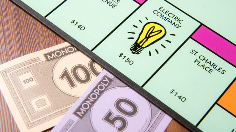 Electric Company Monopoly Pay Collect Money