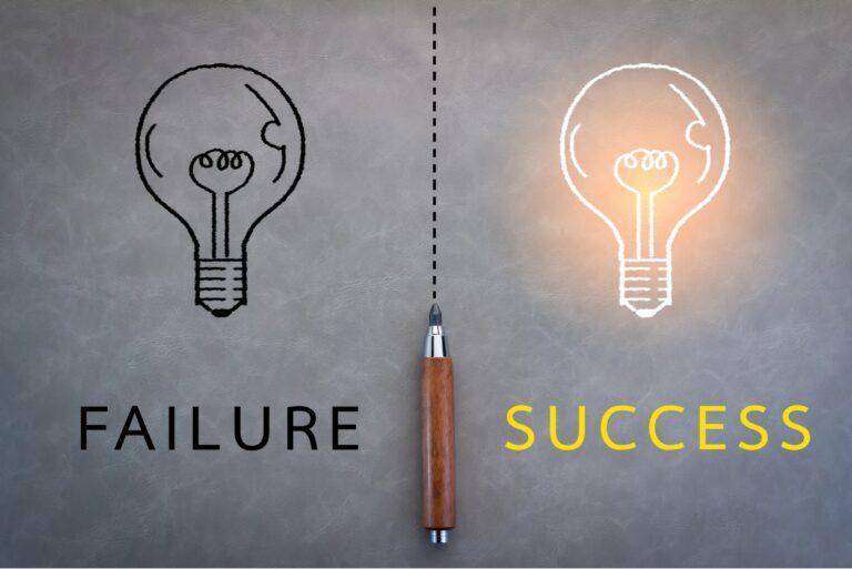 Failure Success Lightbulb Switch Light
