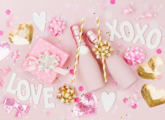 Love Xoxo Champagne Pink Party Wedding Decoration