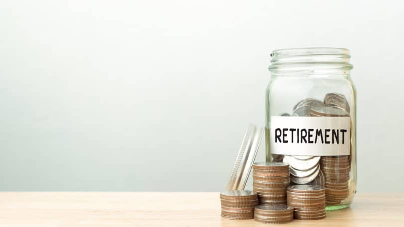 Retirement Savings Jar Coins