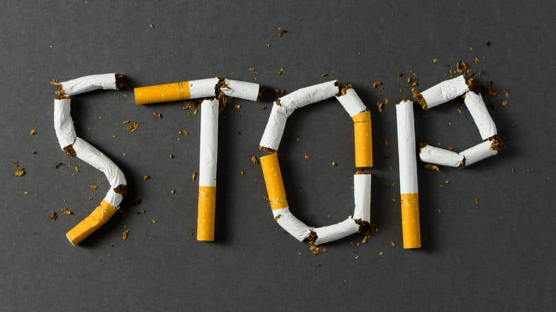 Stop Smoking Cigarette Shaped Letters Nicotine