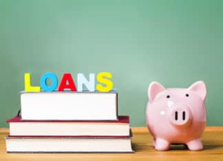 Student Education Loans Books Piggy Bank