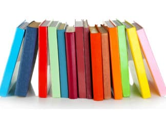 Books Rainbow Colorful Aligned Reading