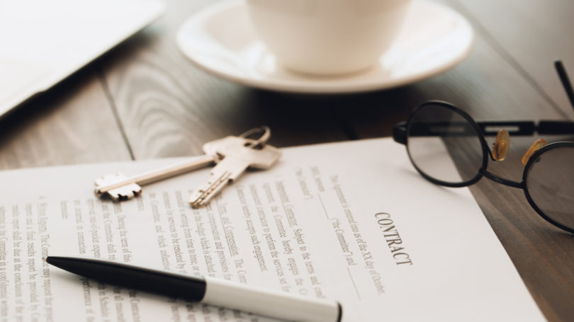 Contract Real Estate Keys Home Ownership