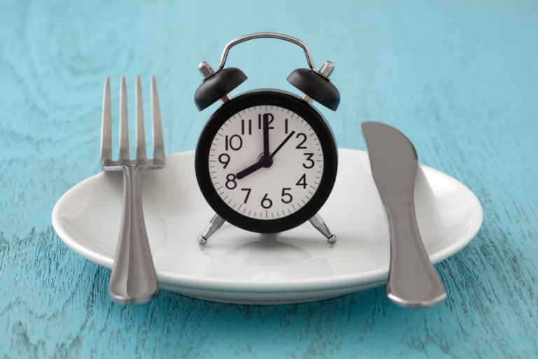 Intermittent Fasting Plate Cutlery Clock