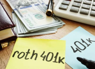 Roth 401k Postit Desk Cash